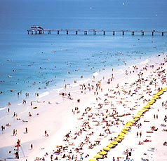Clearwater Beach from above