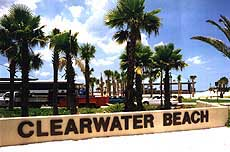 Clearwater Beach park entrance