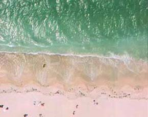 A Beach - from above
